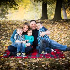 Rustic outdoor fall family portrait photography session taken at Delaware Park in Buffalo, NY by the best photographer in Buffalo and WNY, Jessica Ahrens Photography.