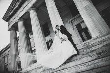 Wedding photography taken at Buffalo History Museum by the best photographer in Buffalo, Jessica Ahrens Photography